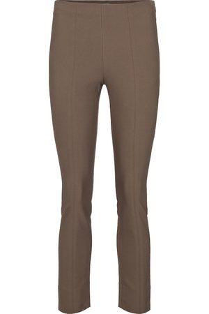 Vince Pantaloni a vita alta in misto cotone