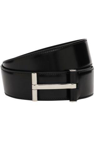 "Tom Ford Cintura Reversibile ""t Classic"" In Pelle 4cm"