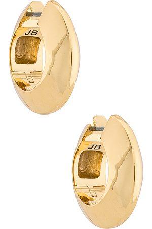 Jenny Wide Hinged Hoops Earrings in - Metallic . Size all.