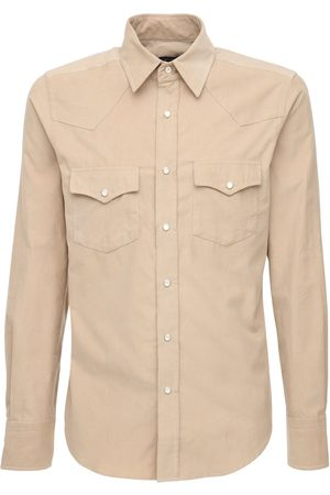 Tom Ford Camicia In Cotone Millerighe