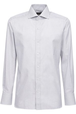 Tom Ford Camicia In Cotone Gingham