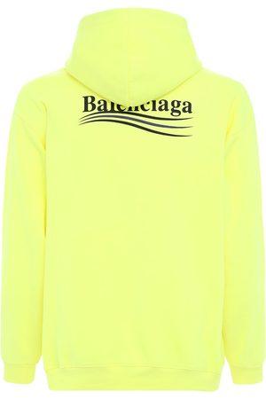 Balenciaga Felpa In Cotone Con Cappuccio E Logo