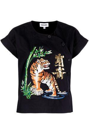 Kenzo T-shirt con ricamo