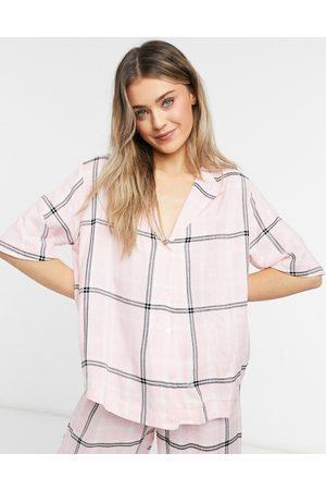 ASOS Mix and Match - Camicia del pigiama a quadri con spalle scivolate