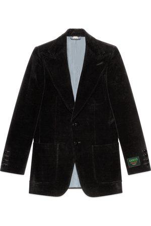 Gucci Giacca in velluto con etichetta