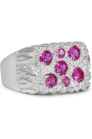 Bleue Burnham Bouquet Sterling Sapphire Signet Ring