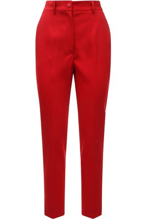 Dolce & Gabbana Pantaloni Vita Alta In Misto Lana Stretch