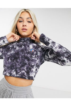Russell Athletic Crop top a maniche lunghe tie-dye