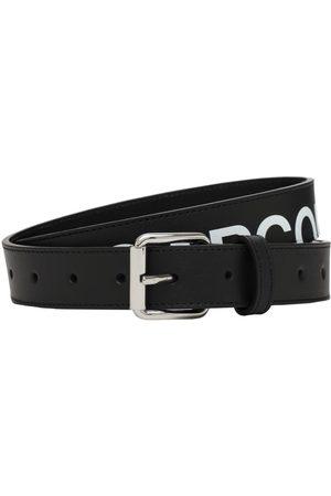 Comme des Garçons Cintura In Pelle Con Logo