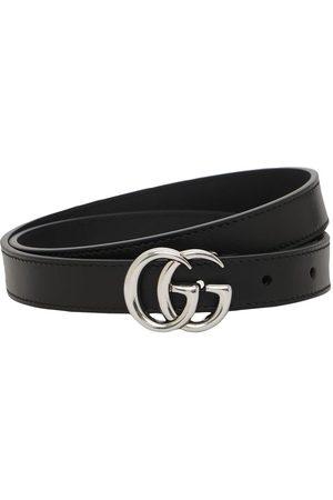 "Gucci Cintura ""gg Marmont"" In Pelle 2cm"