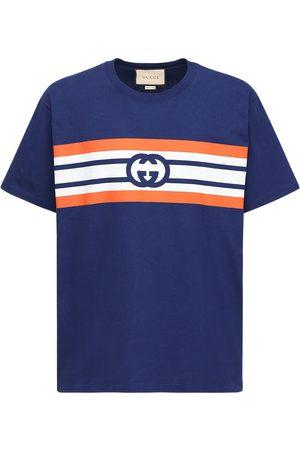 Gucci T-shirt In Cotone Stampato