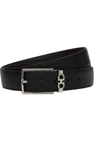 Salvatore Ferragamo Cintura Reversibile In Pelle 3.5cm