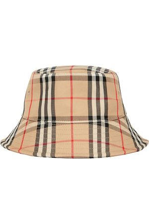 Burberry Cappello Bucket In Misto Cotone Check