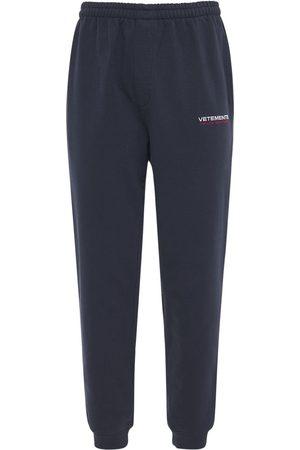 """Vetements Pantaloni """"haute Couture"""" In Felpa Con Logo"""