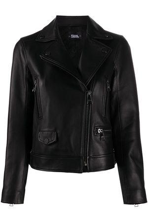 Karl Lagerfeld Giacca biker con zip decentrata