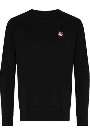 Maison Kitsuné Uomo Felpe - Fox-patch cotton sweatshirt