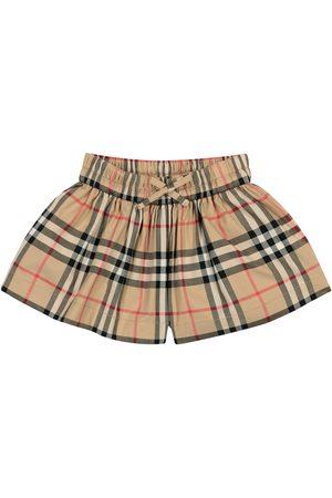 Burberry Shorts a quadri in cotone