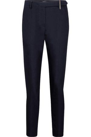 Brunello Cucinelli Pantaloni slim in cotone