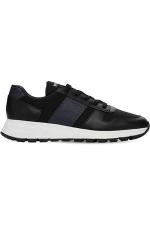 Prada Sneakers In Pelle Saffiano E Nylon