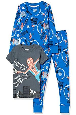 Spotted Zebra Disney Star Wars Set di Pigiama in Cotone Aderente, Pajama-Sets, 3 Pezzi Marvel Spider Man, 3 Anni