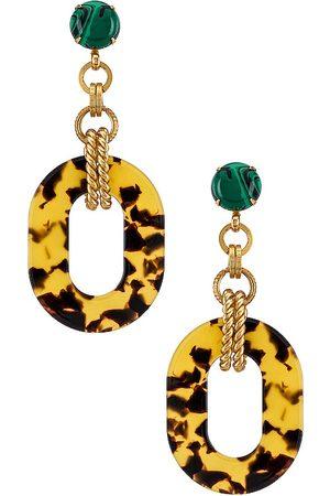 ELIZABETH COLE Bennett Earrings in - Metallic Gold. Size all.