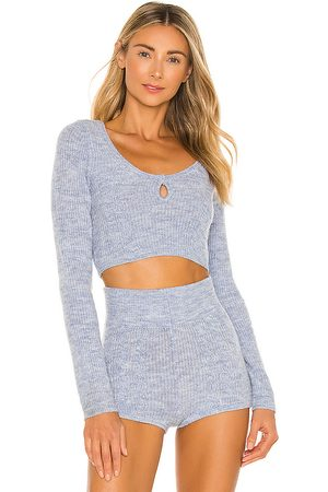 Tularosa Paloma Pullover in - Blue. Size L (also in XXS, XS, S, M, XL).