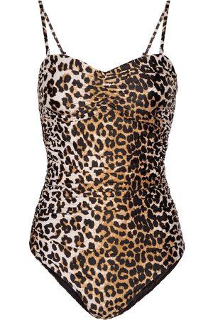 Ganni Costume intero a stampa leopardata