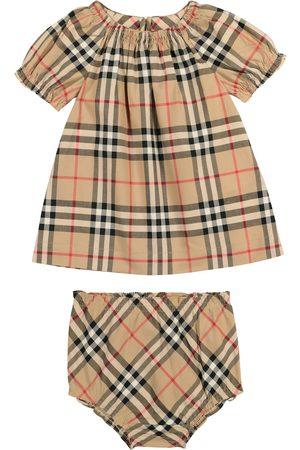 Burberry Baby - Abito e culottes a quadri in cotone