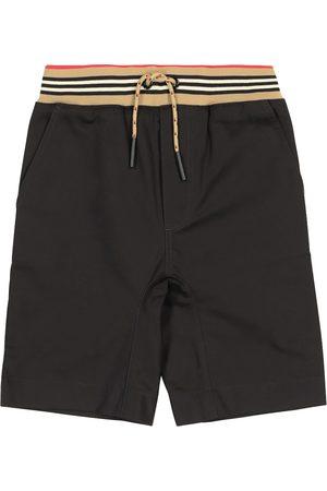 Burberry Shorts a righe in twill di cotone
