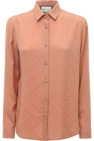 Gucci Camicia In Crepe Di Seta Gg