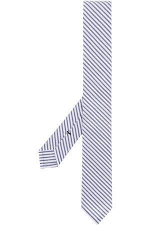 Thom Browne Classic Necktie In Navy Seersucker - 415 Navy