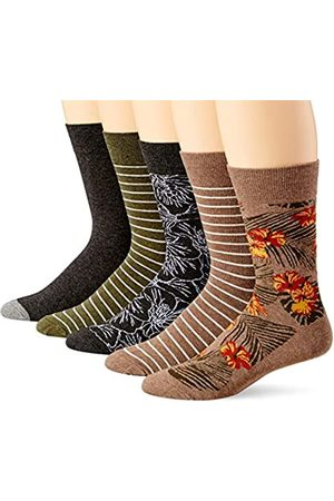 Goodthreads 5-Pack Patterned Socks Casual, Swan, One Size