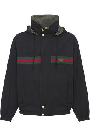 Gucci Giacca Reversibile In Cotone E Nylon Con Logo