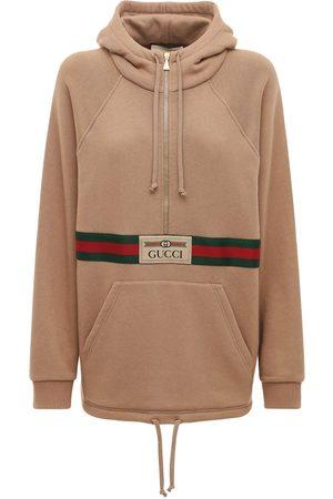 Gucci Felpa In Jersey Di Cotone Con Cappuccio