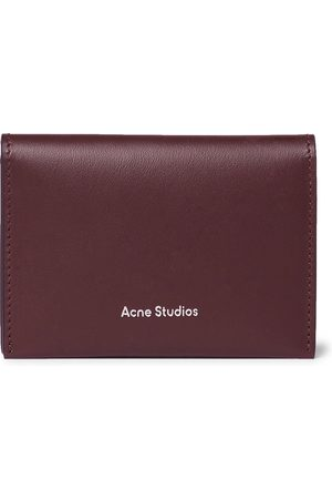 Acne Studios Uomo Portafogli e portamonete - Logo-Print Leather Billfold Wallet