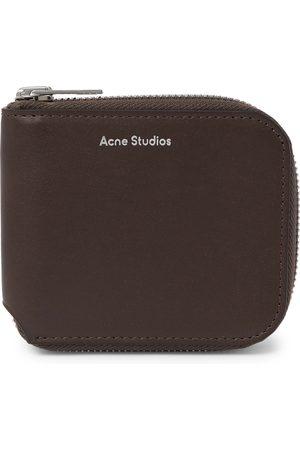 Acne Studios Uomo Portafogli e portamonete - Logo-Print Leather Zip-Around Wallet