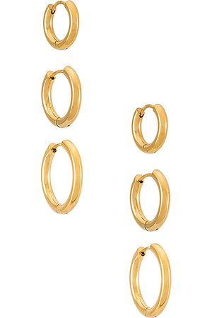 Shashi Donna Bracciali - Triples Hoop Set of 3 in - Metallic . Size all.
