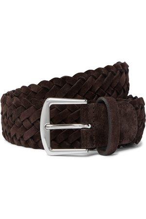 Loro Piana Uomo Cinture - 4cm Woven Suede Belt