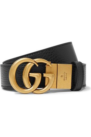 Gucci Uomo Cinture - 3.5cm Logo-Detailed Full-Grain Leather Belt