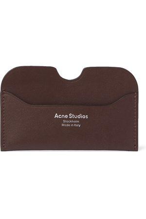 Acne Studios Uomo Portafogli e portamonete - Logo-Print Leather Cardholder