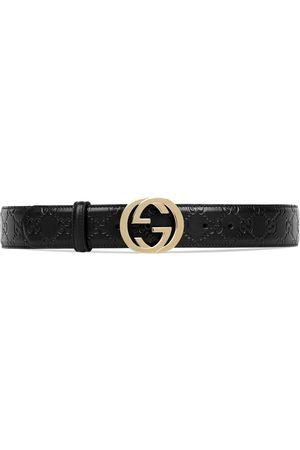 Gucci Donna Cinture - Cintura in pelle Signature con fibbia GG