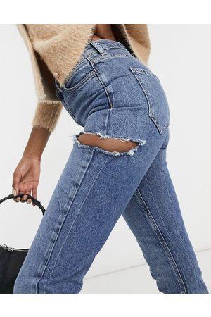 New Look Mom jeans con strappi laterali