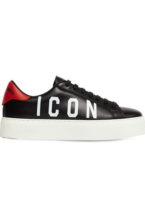 "Dsquared2 Sneakers ""new Tennis"" In Pelle 35mm"
