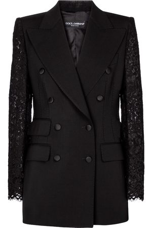 Dolce & Gabbana Blazer in lana e pizzo