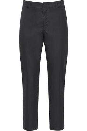 Prada Pantaloni In Nylon Con Logo