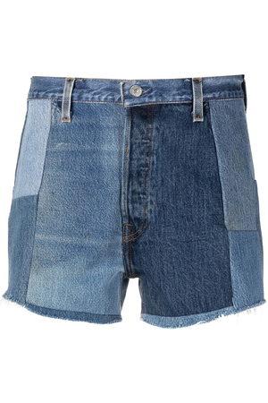RE/DONE Shorts denim patchwork