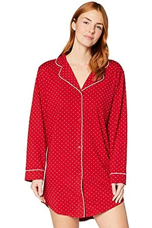 IRIS & LILLY Camicia da Notte a Manica Lunga in Cotone Donna, , XS, Label: XS