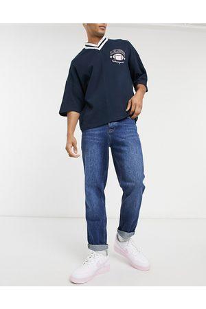 ASOS Uomo Straight - Jeans corti dritti lavaggio scuro