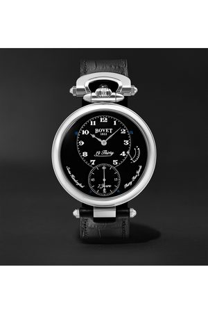 BOVET Uomo Orologi - 19Thirty Fleurier Hand-Wound 42mm Stainless Steel and Leather Watch, Ref. No. NTR0029