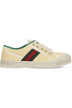 Gucci Sneakers In Tela Con Dettagli Web